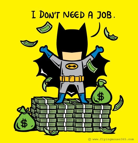 Already Rich-If Superheroes Had Part Time Jobs