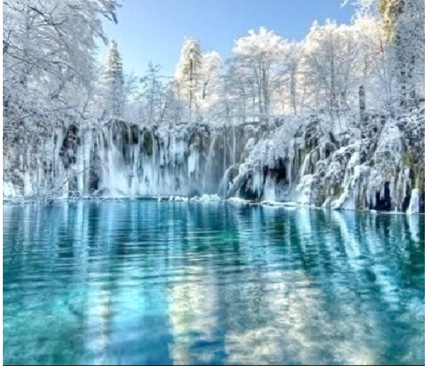 Plitvice Lakes, Croatia-Most Amazing Ice Formations