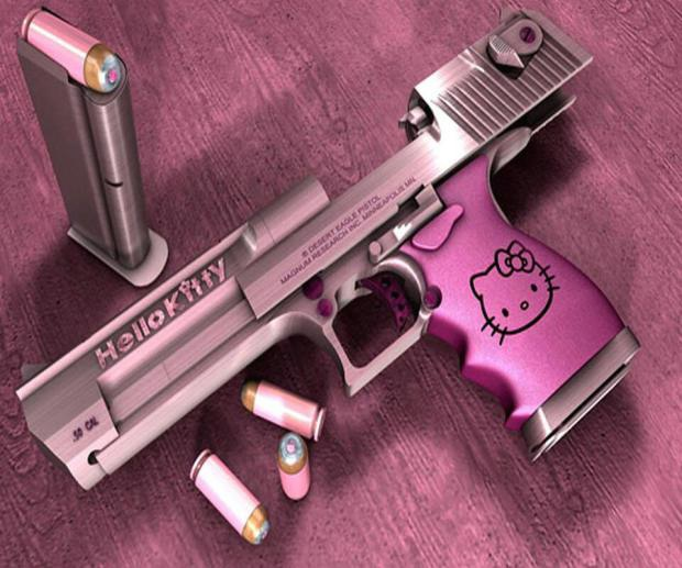 The pistol-Crazy Products Inspired By Hello Kitty