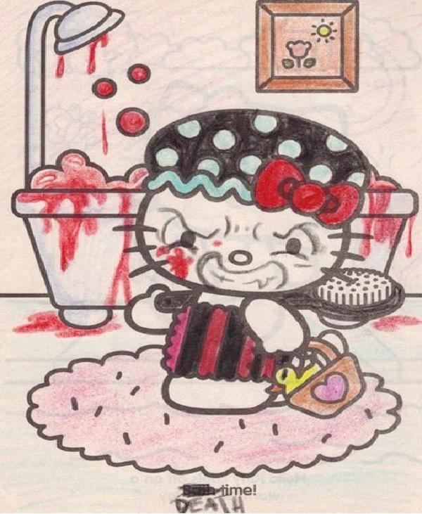 Hell Kitty-Craziest Hello Kitty Tattoos