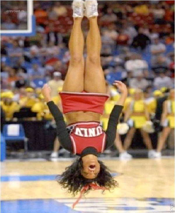 Flipped-Perfectly Timed Pictures In Sports