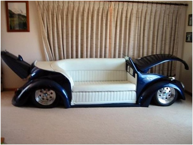 Must Have Man Cave Accessories : Car sofa must have man cave accessories