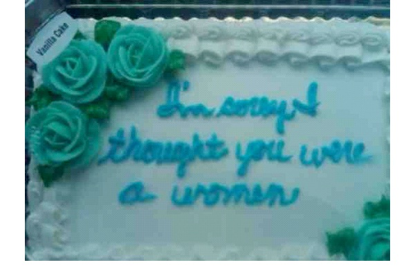 Gender Confusion-Funniest Texts For A Cake