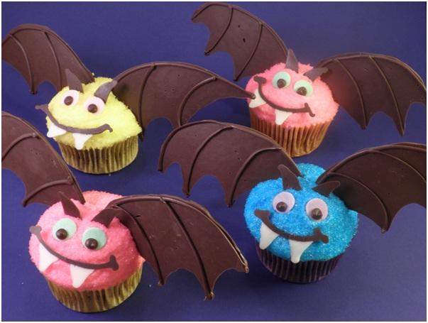 Bat Cupcakes-Halloween Cupcakes