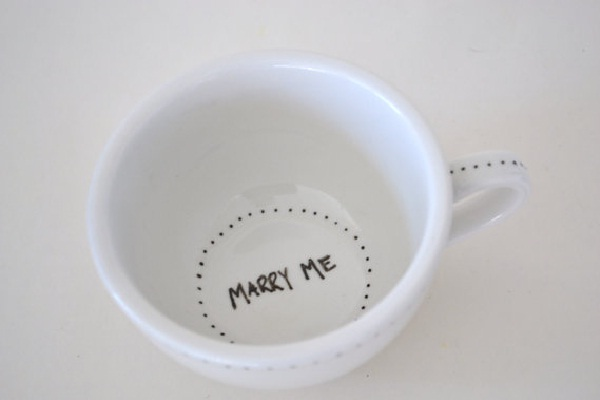 Coffee Cup-Unusual Ways To Propose