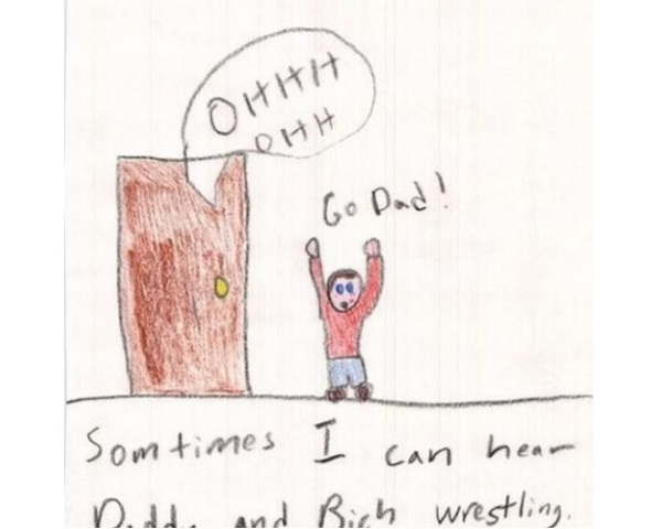 Wrestling-12 Most Disturbing Drawings By Kids
