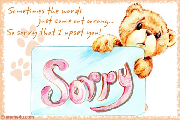 Saying Sorry-How To Be A Good Wife