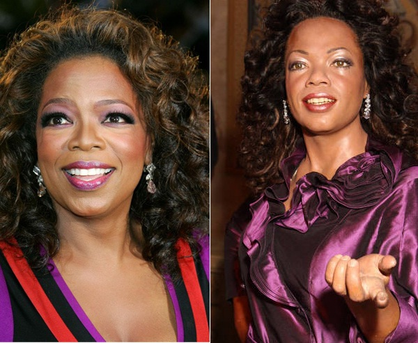 Oprah-Celebs With Their Wax Statues