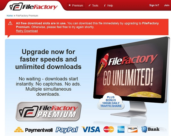 FileFactory-Best File Sharing Websites
