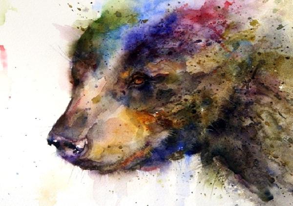 Rainbow Bear-Amazing Watercolor Painting Tattoos