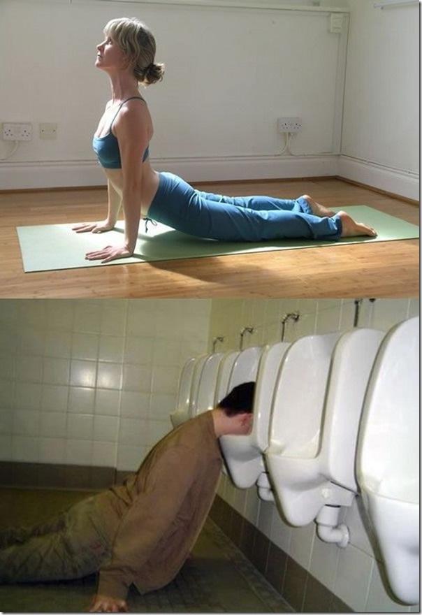 Arched Back-Yoga Vs. Drunk Poses