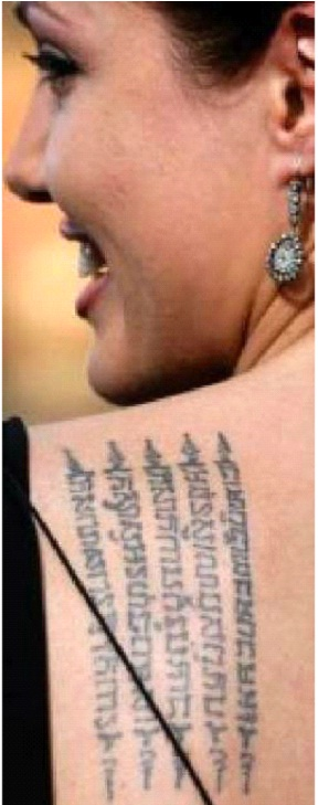 Khmer Script Prayer-Angelina Jolie And Her Tattoos