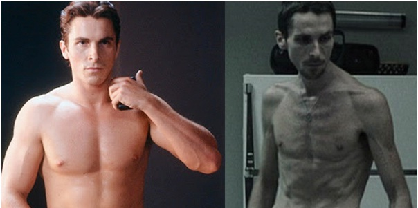 Christian Bale as Trevor Reznik in The Machinist-Celebrities From One Movie Role To Another