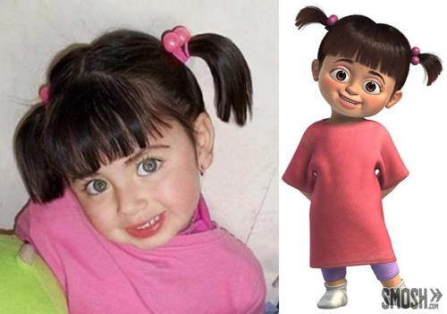 Uncanny-Cartoon Characters & Their Real Life Counterparts