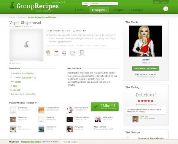grouprecipes.com-Best Recipe Websites