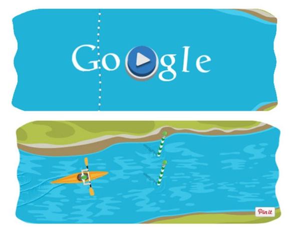 Slalom Canoe Game-Amazing Google Doodles