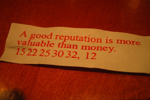 A good reputation-Things That Money Can't Buy