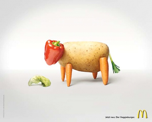 Fresh Vegetables-Most Creative McDonald's Ads