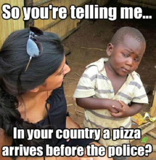 On Pizza-12 Best Skeptical Third World Kid Memes Ever