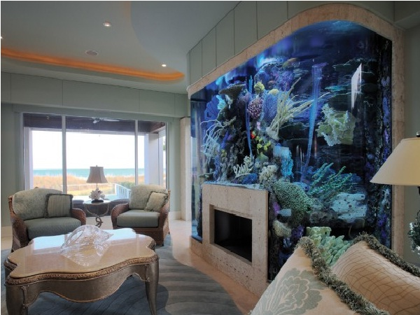 Fireplace-Creative Aquariums