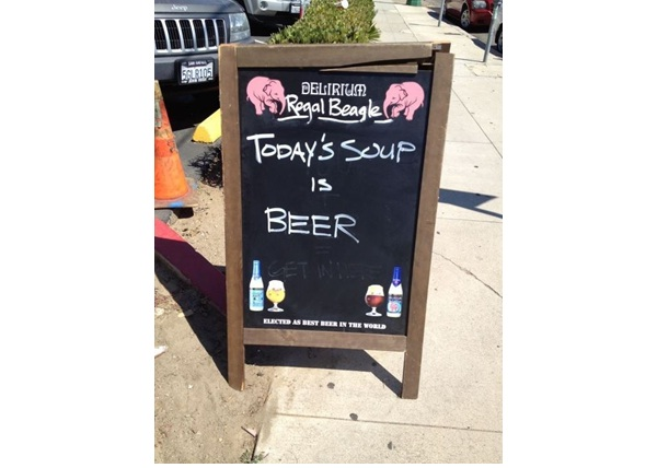 Beer Soup?-Funniest 'Soup Of The Day' Signs
