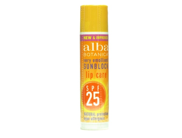 Alba Botanica Natural Very Emollient Lipcare SPF 25-Best Sun Care Products