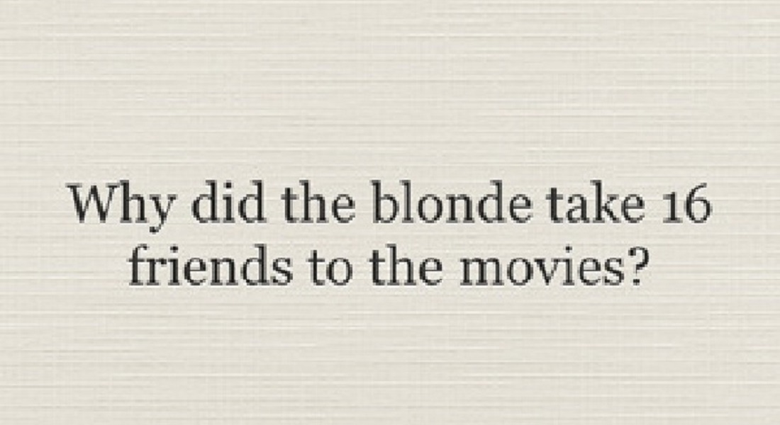 12 Best Blonde Jokes That Will Make You Cry Laughing