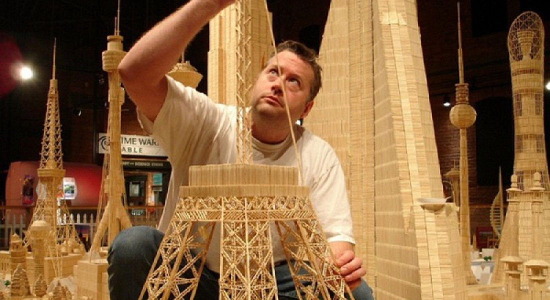12 Creative Toothpick Art Models Ever Made