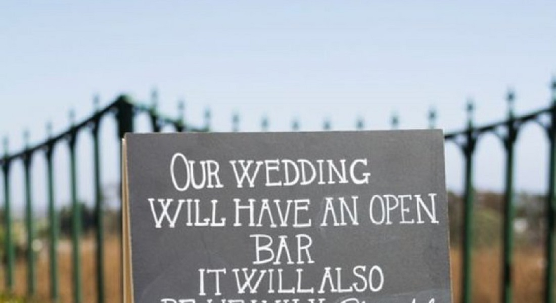 12 Funniest Wedding Signs Ever Seen