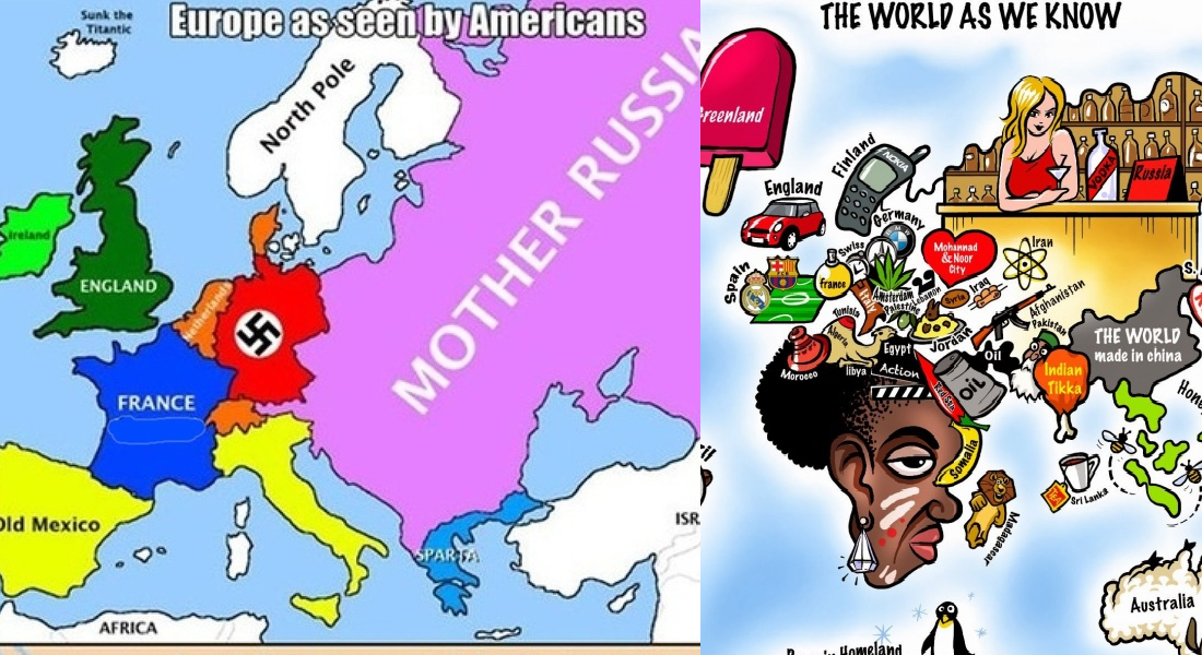 12 Funny Maps You Won't See In School