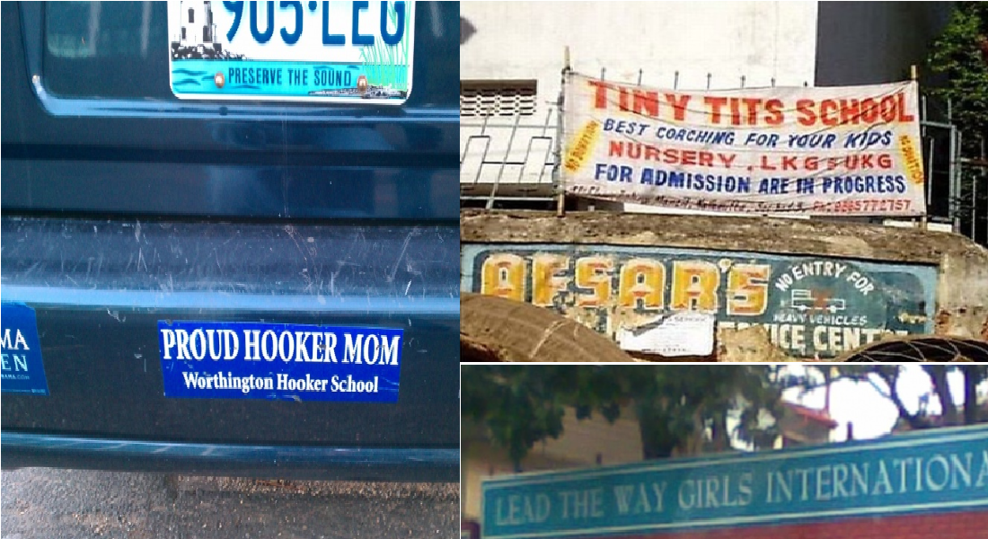 12 Funniest High School Names