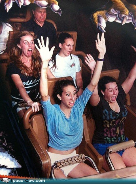 Scared Much?-Hilarious Roller Coaster Moments
