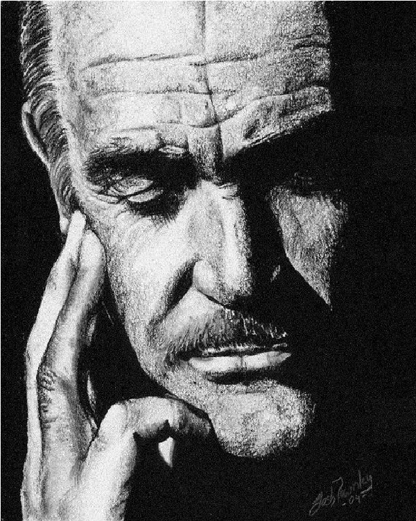 Sean Connery-Mind Blowing Pencil Art