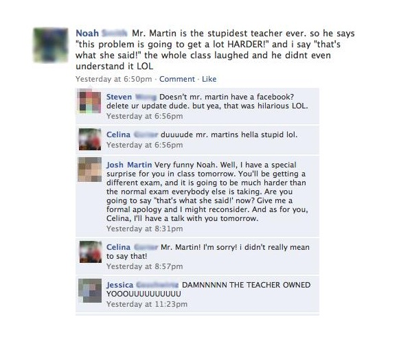 Teacher-12 Most Embarrassing Yet Hilarious Facebook Posts You'll Ever Read