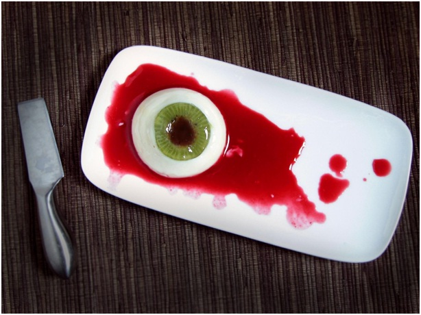 Coconut Kiwi Panna Cotta-Scary Halloween Dishes