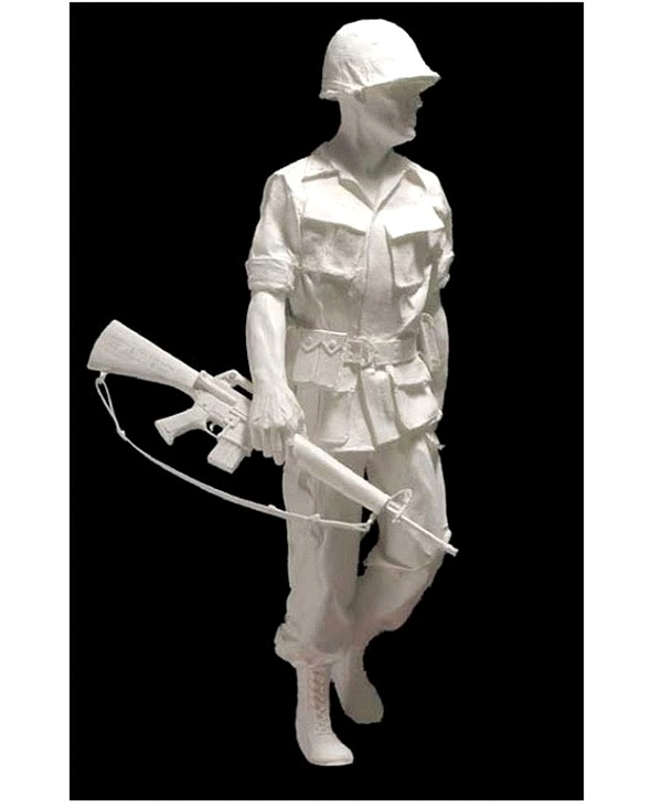Soldier-Most Amazing Paper Sculptures