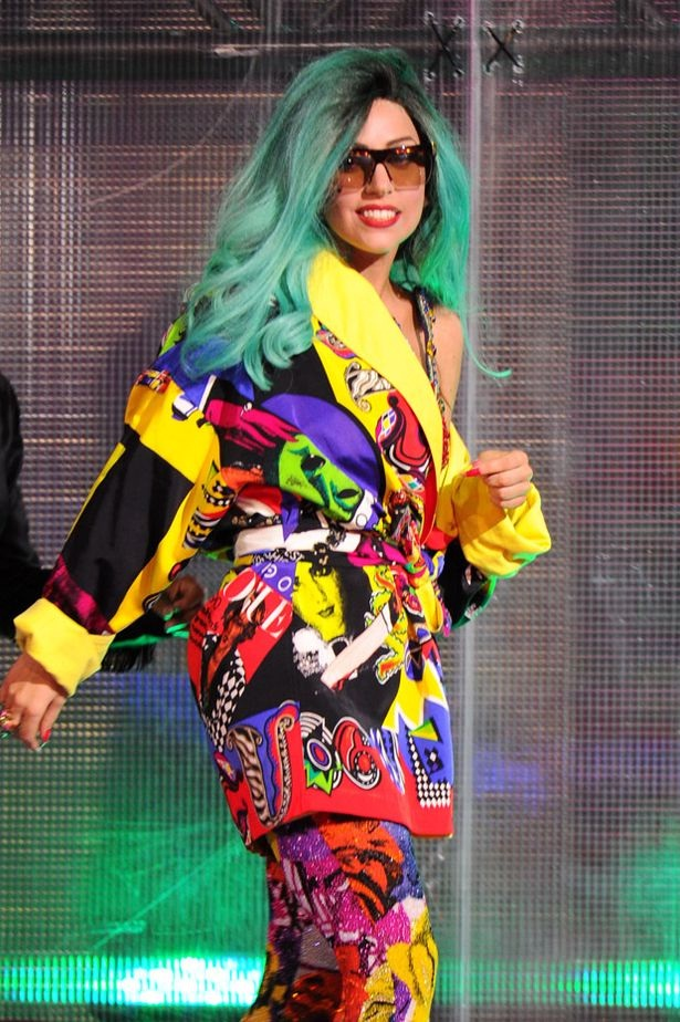 Every color in the rainbow-Worst Lady Gaga Outfits
