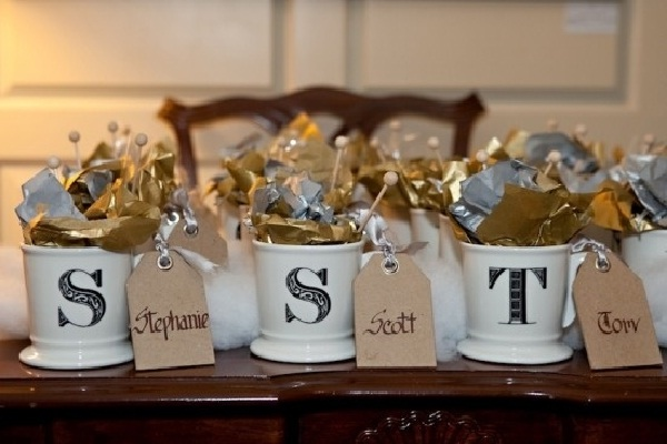 Candy Mugs-Creative Wedding Favor Ideas