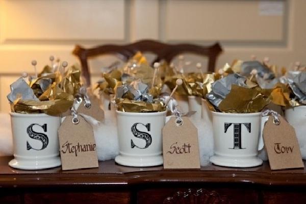 Candy Mugs-Creative Wedding Favor Ideas