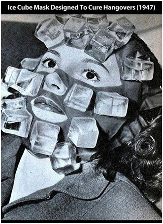 Ice Cube Face Pack for a Hangover-Strangest Historical Inventions