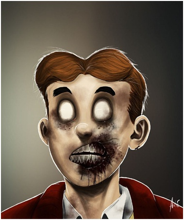 Archie Zombie-Zombified Faces Of Famous Cartoons
