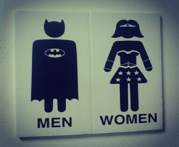 Superhero-Creative And Funny Toilet Signs