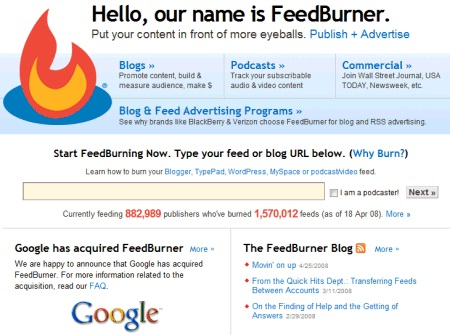 FeedBurner-Most Stupid Google Acquisitions Ever