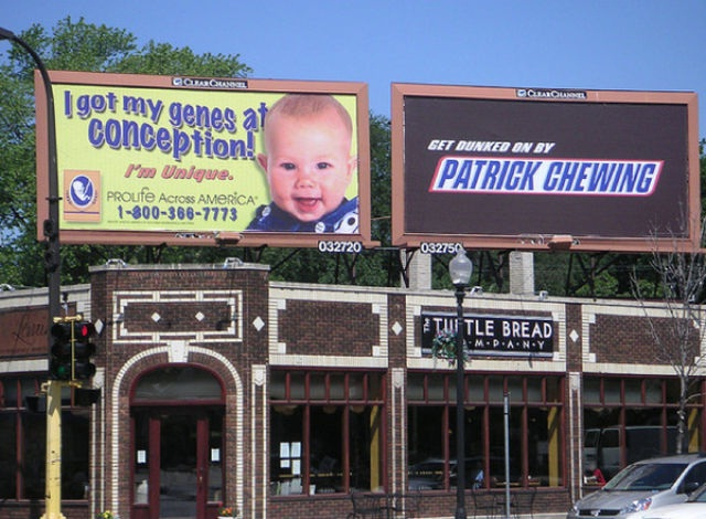 Go On Patrick-Unexpectedly Hijacked Billboards