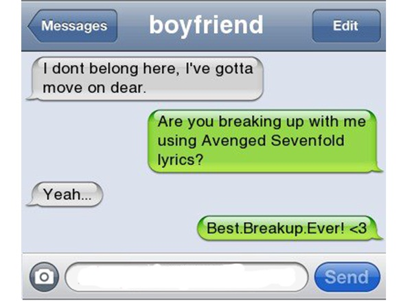 Sing It Out In Style-12 Funniest Break-up Lines Ever
