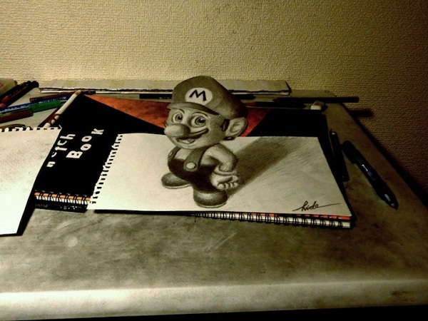 Super Mario-Amazing 3d Paper Drawings
