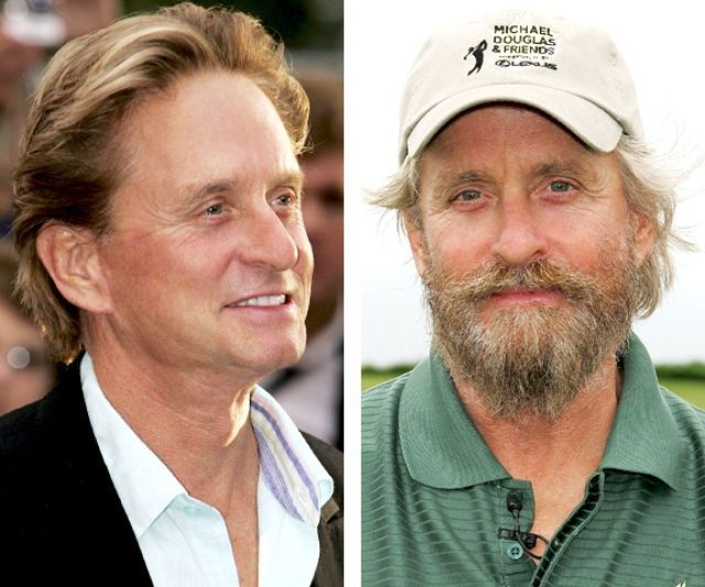 Michael Douglas-12 Images That Show A Beard Makes You Look Different