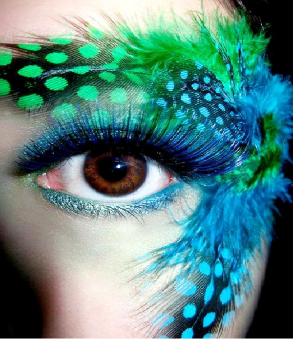 Peacock-Crazy Eye Make Up