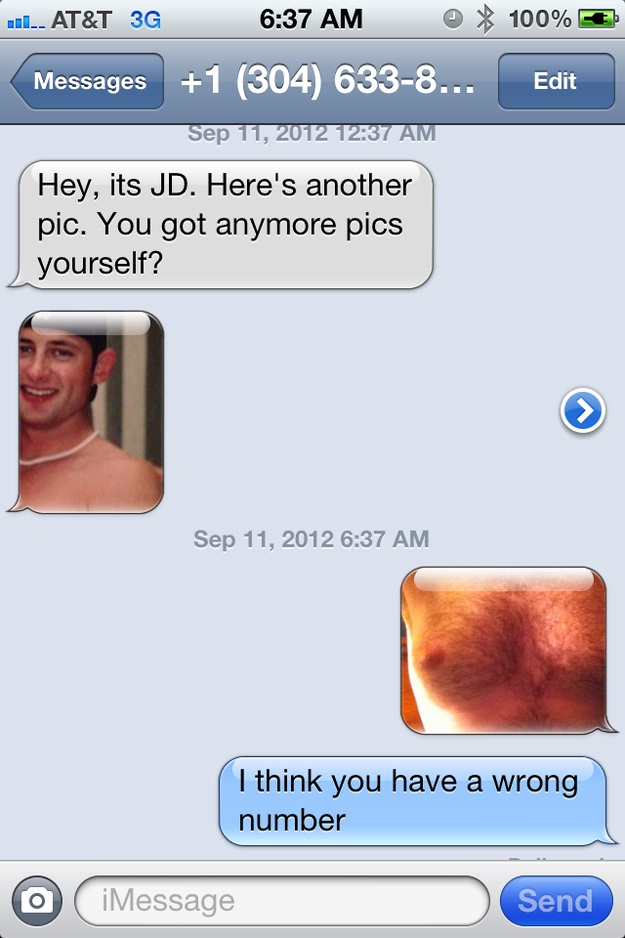 Chest photos-Funny Ways To Respond To A Wrong Number Text