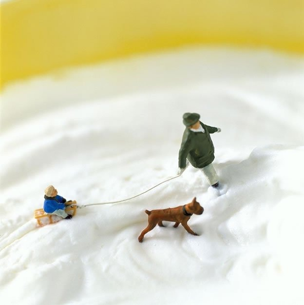 A Wintry Scene-Adventures Of Tiny People In The World Of Food